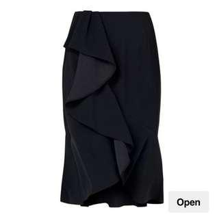 Forever New Abby Ruffle Wrap Pencil Skirt - Size 10