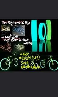 🚚 2019 Glow Tape Luminous Photoluminescent Stage Home Decoration marking glow in the dark Tape bike Bicycle Scooter Toy Gadget  Green - Blue - Greenish Blue