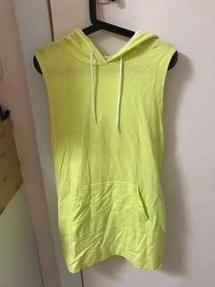 H&M Yellow Sport Hoodie Dress