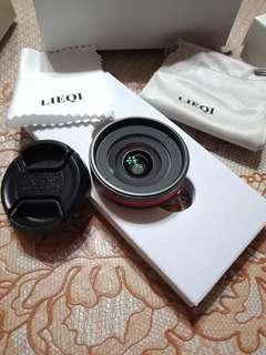 """🚚 """"近全新"""" LIEQI 0.6X廣角鏡頭 專業不變形 型號LQ-31 紅黑款 原官網售價1169$"""
