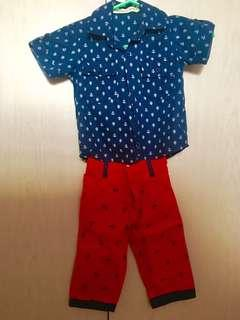 Peppermint Kids and Baby Club Polo and Pants pair