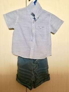 Gingersnaps Polo and shorts pair