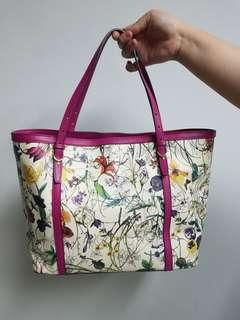 Gucci Botanical Floral Canvas Tote
