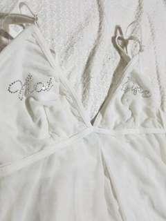 La senza white lingerie top