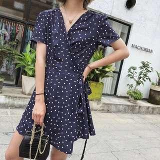 *IN STOCK* BN Korean Fashion Summer Dress (Navy) * Premium Quality*