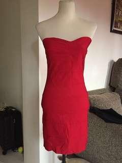 Bandage Mini Red Dress