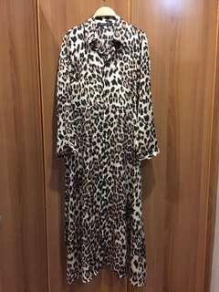 New leopard printed long dress