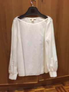 Preloved White long sleeve top