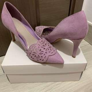 Randa紫色3吋半高跟鞋