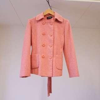 🚚 專櫃 KUDA 輕熟女粉色雙排扣外套