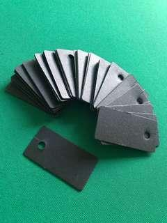 Black Label Tags 5.4 x 2.8cm