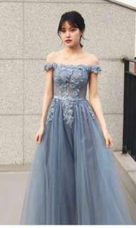 Rosita Embroidery Blue Wedding / Evening Gown - Brand New