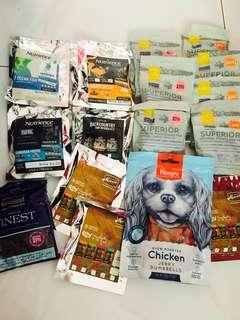 Dog food samples 🐾 - Merrick, Nutrience, Fish4dogs, Wanpy