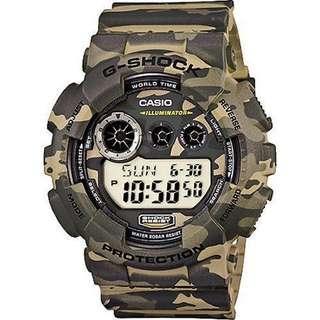 Casio G-Shock Camouflage Army Digital Watch