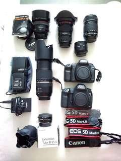 Canon camera lens and accessories
