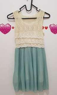 Minj lacey green dress