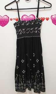 Sweet black mini dress