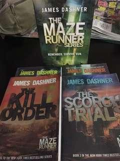 The maze runner complete set