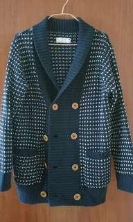 🈹❣️ White Chocoolate 藍白針織外套