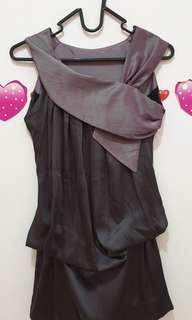 Purple assymetric dress