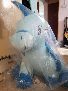 Large blue unicorn