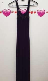 Sexy long dress purple