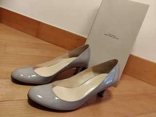 日本製 Made in Japan United Arrows Green Label Relaxing 灰色圓頭高跟鞋 heels