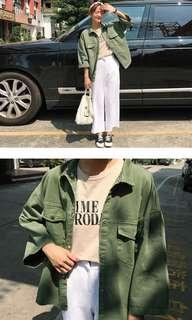 Oversized Army Green Jacket