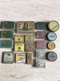 Vintage cigarette/cigar/tobacco tins x 20 pcs