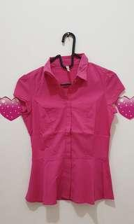 Stradivarius pink fanta shirt