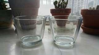 宜家 透明蠟燭杯 Ikea Clear Candle Cups
