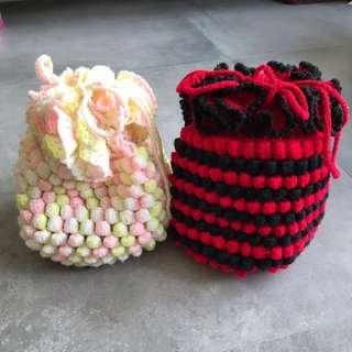 Nostalgic Knitted Pineapple Bag for Little Girls
