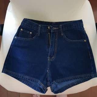 🚚 Dark blue denim jeans shorts