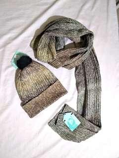 Winter hat and scarf wool