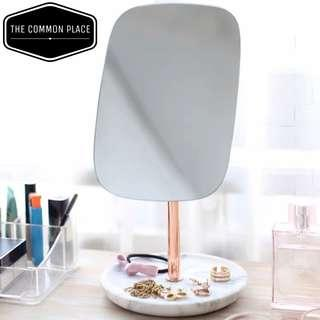 🚚 Nordic White Marble Rose Gold Table Vanity Mirror