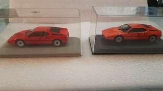 Set of 1/43 BMW M1 (dealer exclusive colours)