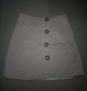A-Line Skirt Red and White Stripes