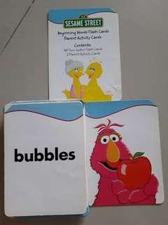Flash Cards - Sesame Streets Beginning words for baby or toddlers
