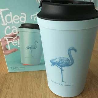 BNIB Non-spill Art Coffee Tea Suction Cup in Tiffany Blue