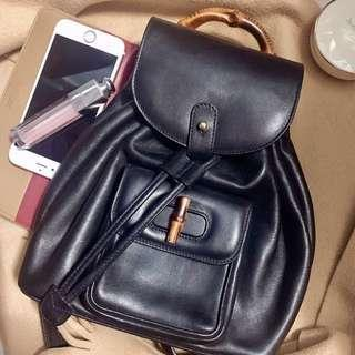 Gucci vintage backpack bamboo