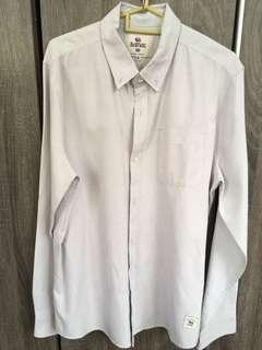 Bellfield light grey Long sleeve cotton shirt