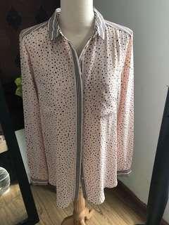 Warehouse pyjamas style blouse