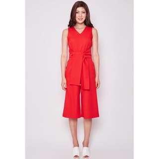 MDS - Red Monique jumpsuit