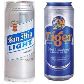 生力 / 虎牌 清啤 啤酒 500ML - 每樣一罐 Tiger beer / San Mig Light 500ML San Miguel x 1 each