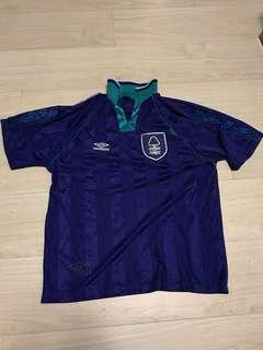 Rare no sponsor vintage authentic Nottingham Forrest soccer jersey