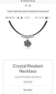 BNEW Chomel Crystal Necklace and Earrings set
