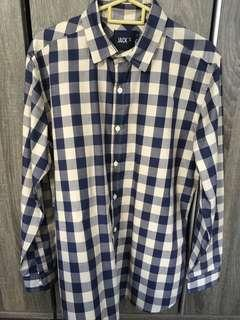 Checkered plaid Long sleeve shirt