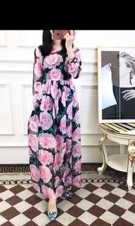 NA D&G Floral Long Dress