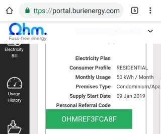 Ohm Energy $20 off electricity bill