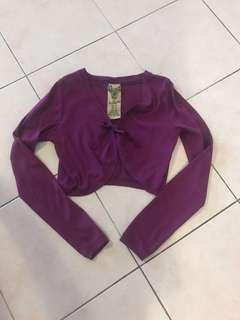 Zara purple cropped cardigan